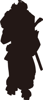 Ukiyo-e character silhouette part 124