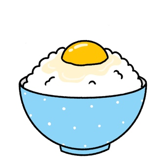 Egg rice and cute hand drawn