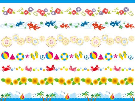 かわいい飾り罫線のセット5