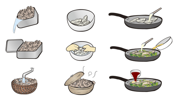 Oyster cooking