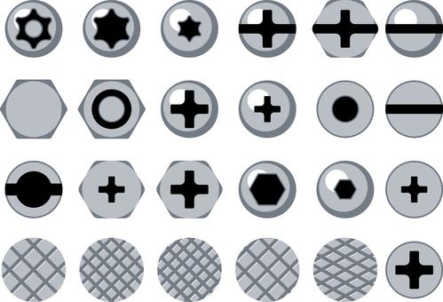螺栓螺釘釘圖標集