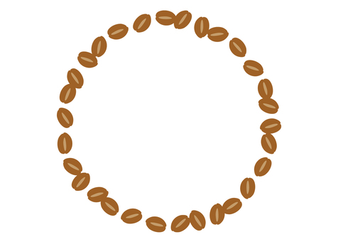 Coffee beans frame round