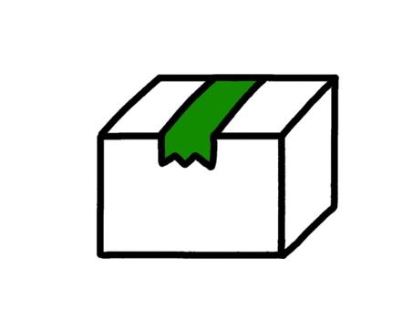 Cardboard white tape Green