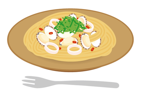 Pasta Japanese style clams