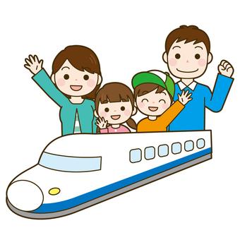가족 여행 신칸센