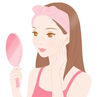 Woman watching Pink Female