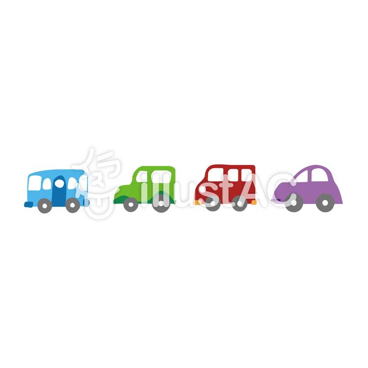 かわいい車のカラーバリエーションイラスト No 600229無料イラスト