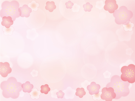 Plum blossom background material