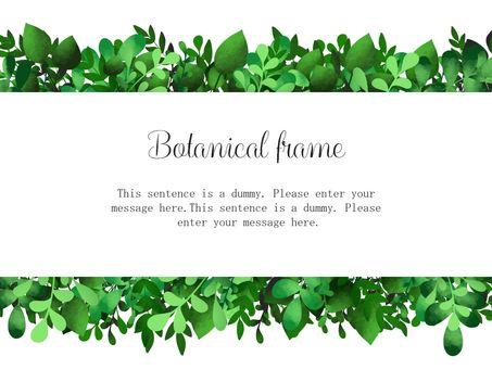 Watercolor frame of leaf 03 / green b