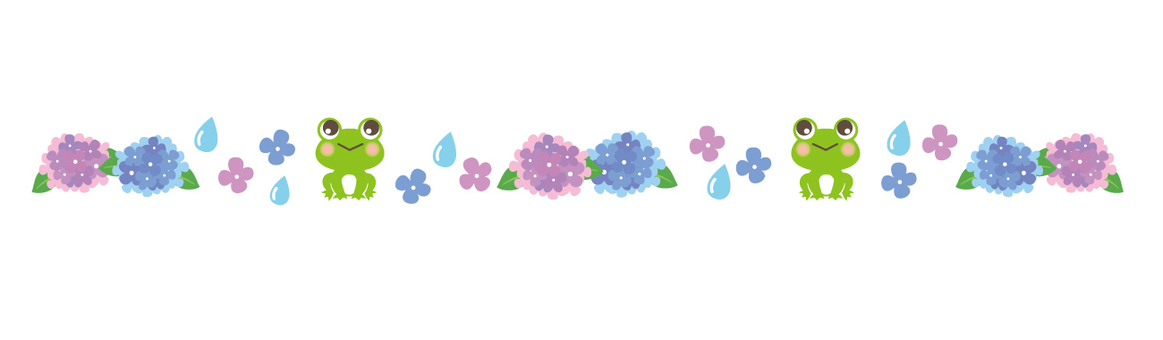 Hydrangea and frog line