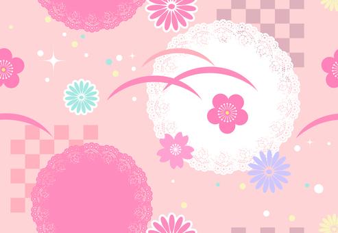 Japanese Pattern Endless Pattern Lace