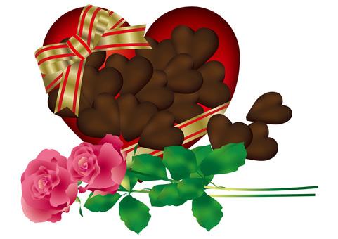 Heart Chocolate & Roses 10