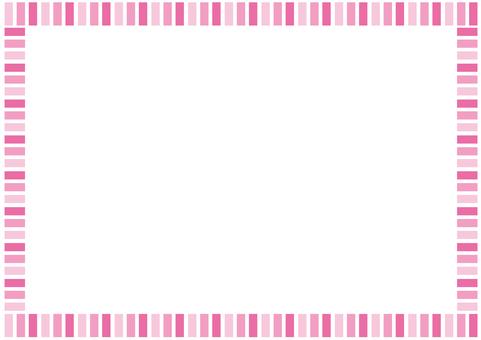프레임 - 단순 스트립 - 핑크