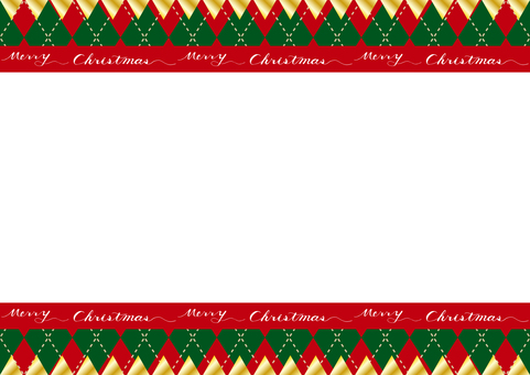 Christmas garland argyle background