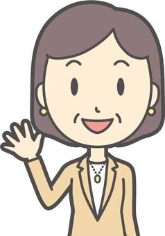 Bob middle-aged woman suit-225-bust