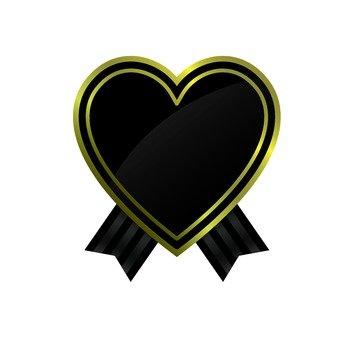 Black Heart ribbon
