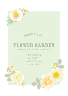 Flower frame mint vertical