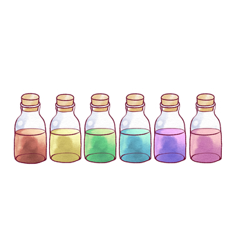 Rainbow colored bottle