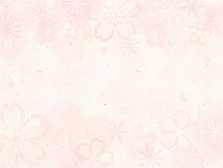 背景(和紙_桜01_横)