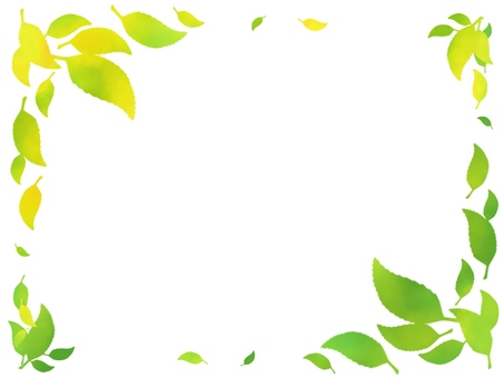 Fresh green leaf frame frame Simple 2