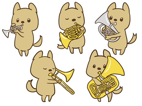 Puppy and instrument [brass instrument edition]