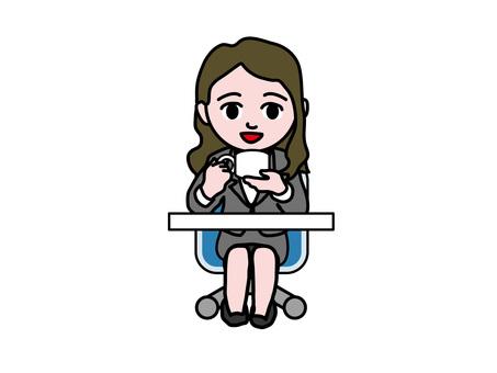 Business women coffee break