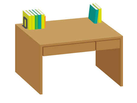 Desk and book