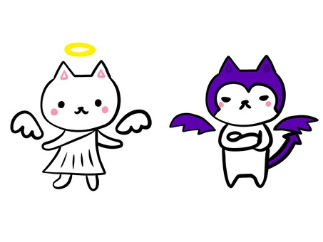 White cat series Angel and devil