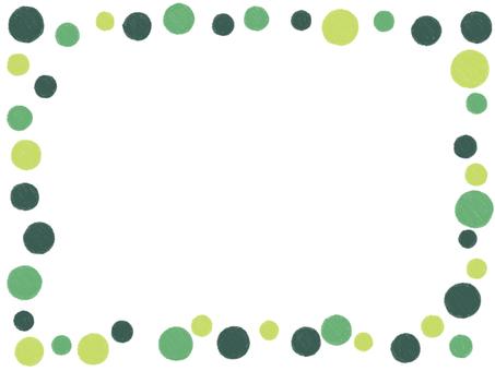 Handwritten feng shui frame green