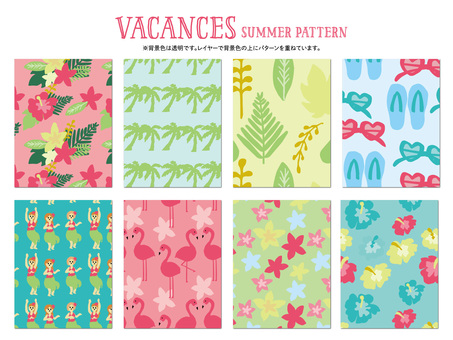 Vacation summer pattern