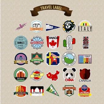 여행 레이블 팩