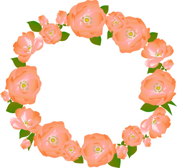 Rose corolla frame Orange