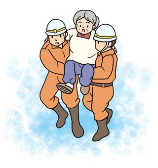 救助活動水害
