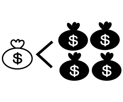 Money icon-6 Scheme of exploitation