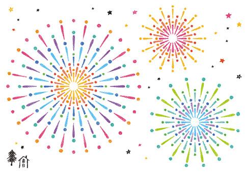 Fireworks 5 Chrysanthemum Pop