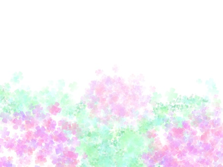 Watercolor style hydrangea