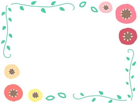 花朵和葉子的裝飾框架