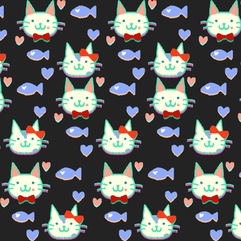 Cat wallpaper black cat pattern