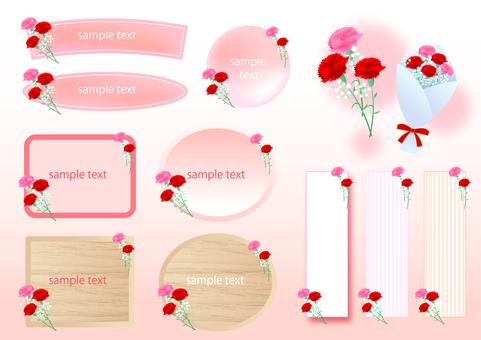Mothers day carnation frame set
