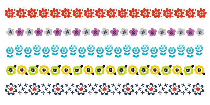 Scandinavian pattern line 05