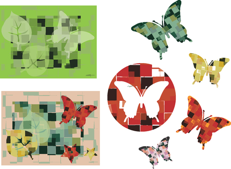 Various kinds of butterflies