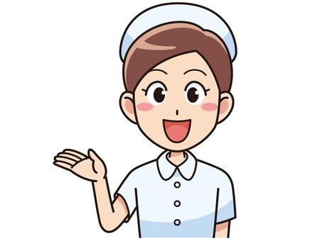 引導微笑的女護士