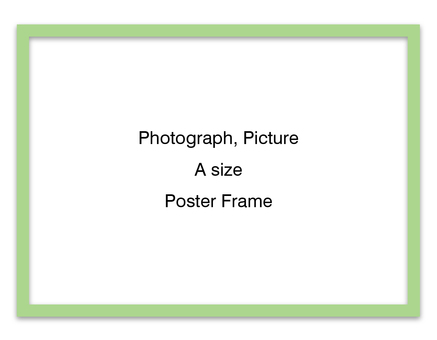 Poster frame sideways (green)