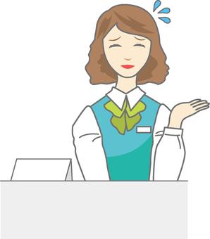 Receptionist woman 6