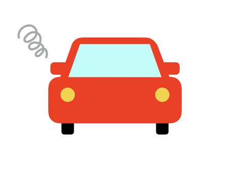Car car horizontal red breakdown