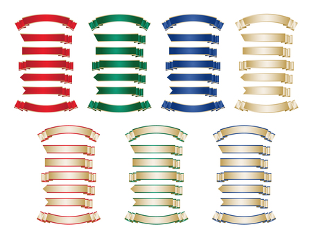 Formal ribbon set pattern 1