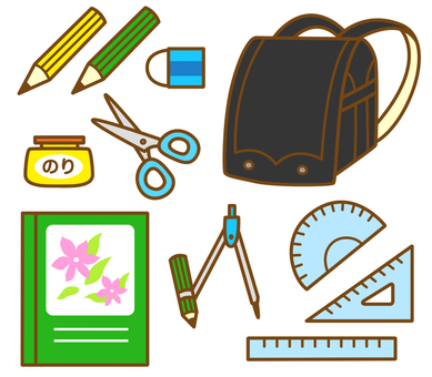 School bags and stationery