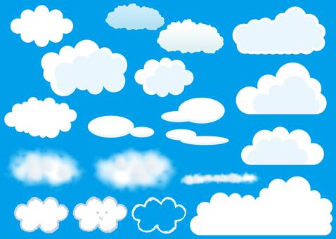 Bulut parçaları materyali