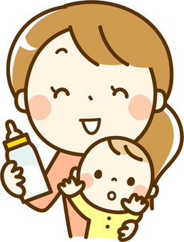 Baby and mom's milk time
