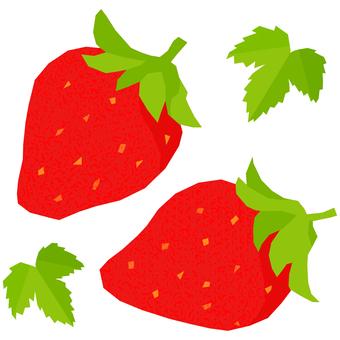 봄의 휘어있는 딸기 4